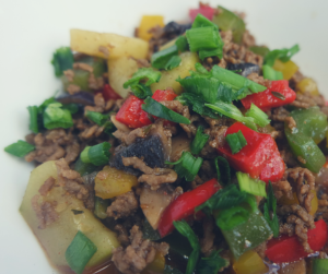 Niskowęglowodanowa wołowina z warzywami