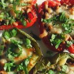 Papryka zapiekana z wołowiną i mozzarellą (keto, lchf)