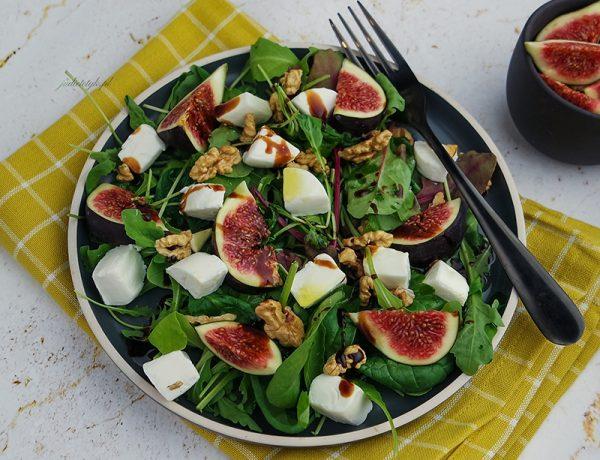 keto sałatka z figą i serem kozim jadietetyk dieta ketogeniczna przepisy